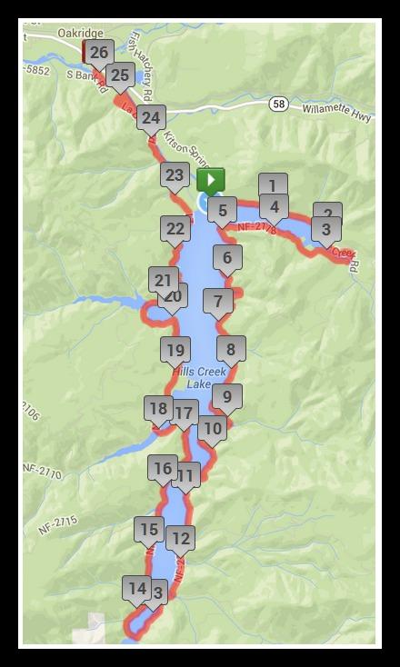 Marathon mile markers 1